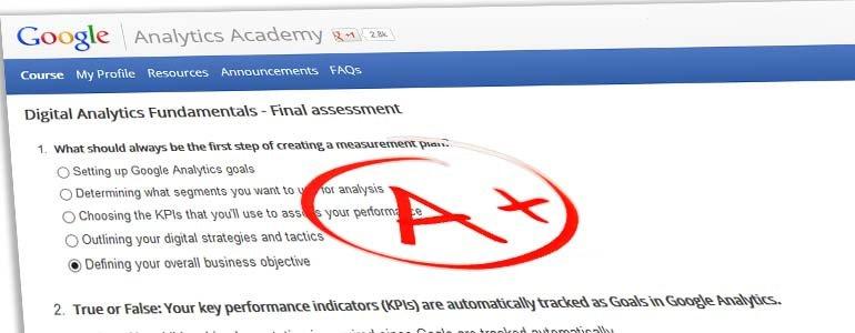 Final Assessment Answers - Google Digital Analytics Fundamentals
